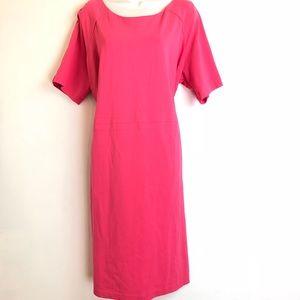 talbots womens pink sheath dress size 18WP